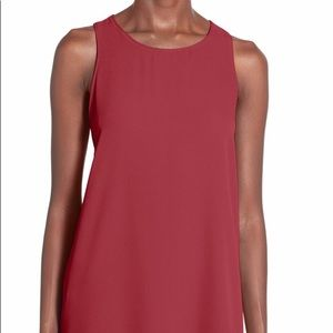 Lush Side Slit Tank in Red in size XS